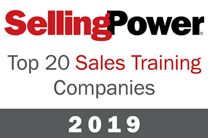 Top 20 Sales Training Companies label